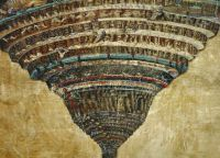 «Круги ада», одна из 7 иллюстраций Боттичелли к «Божественной комедии»