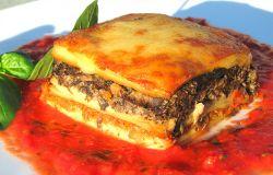 wegetariańska lasagne z grzybami