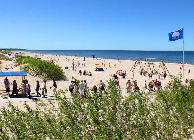 Пляж Вентспилса получил высшую награду - голубой флаг