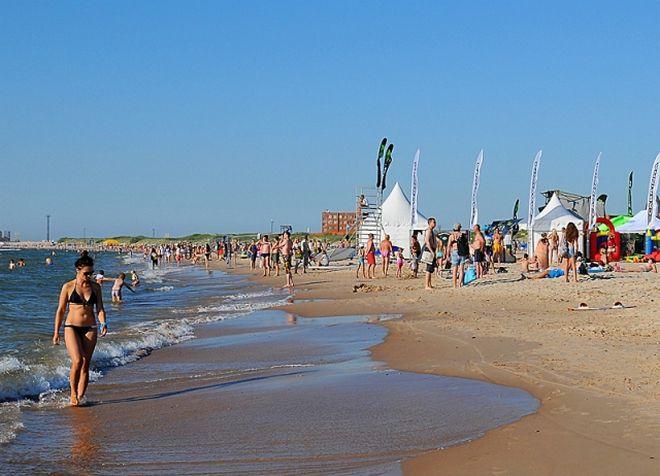 Пляж Вентспилса - один из лучших в Латвии