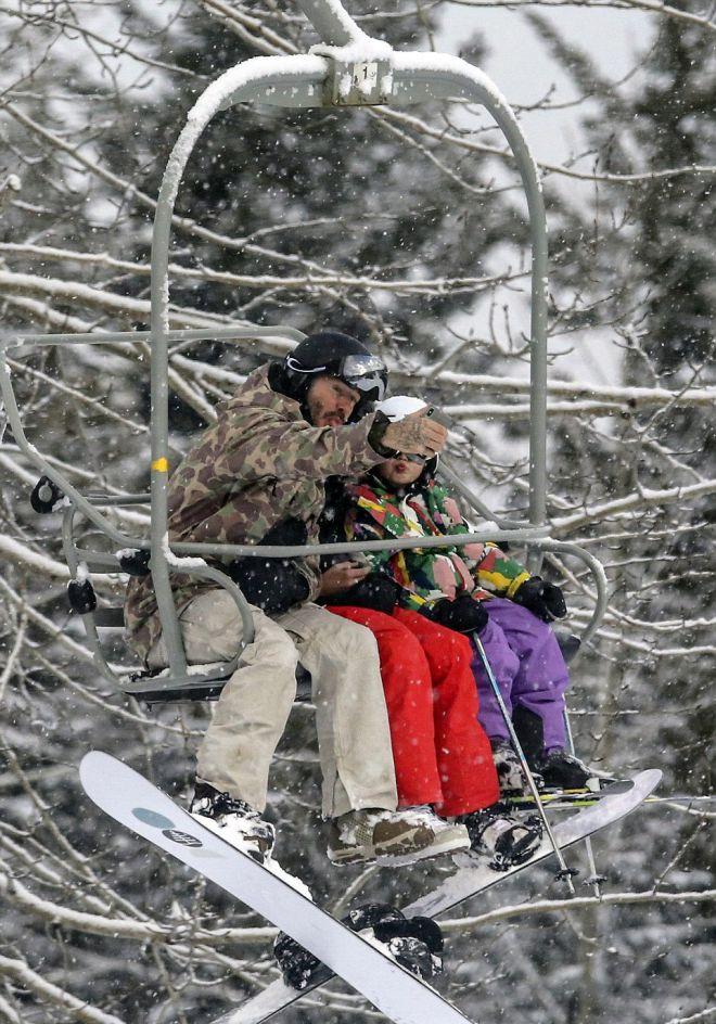 Бекхэмы на отдыхе в Канаде