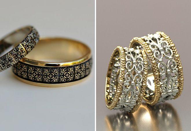 обручальные кольца в стиле винтаж