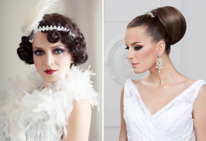 свадебные прически в винтажном стиле