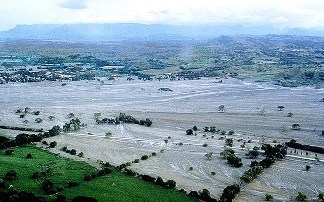 Город Армеро после извержения