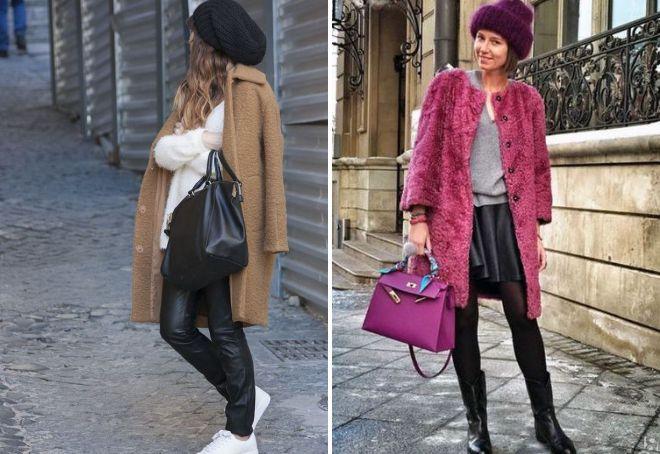 объемная шапка с пальто