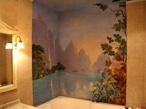 6. Malowanie ścian w łazience