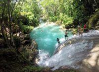 Спуск по веревке с водопадов Блю Хоул