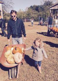 Муж и дочь Лили Олдридж купили тыквы