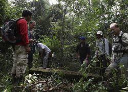 Экипировка туристов в джунглях Камбоджи