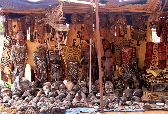 Сувенирная лавка в Намибии