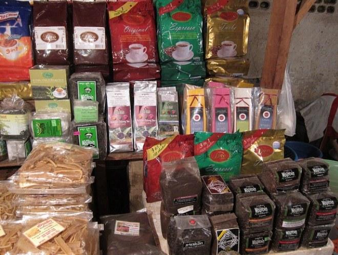 Лаосский кофе и чай