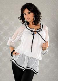 biała bluzka 2013 2