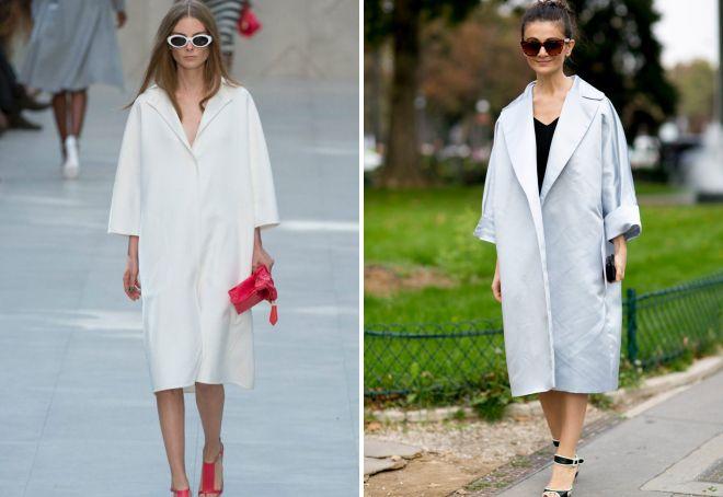 белое пальто миди