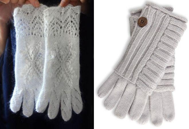 dámské bílé rukavice