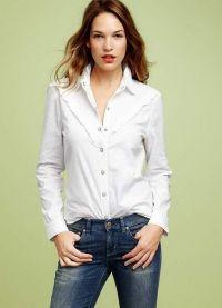Bílá košile a džíny 4