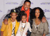Уилл Смит с женой и детьми