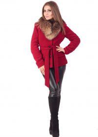 zimowy kaszmirowy płaszcz z futrzanym kołnierzem2