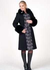zimowy kaszmirowy płaszcz z futrzanym kołnierzem8