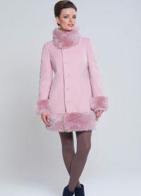 zimowy kaszmirowy płaszcz z futrzanym kołnierzem9