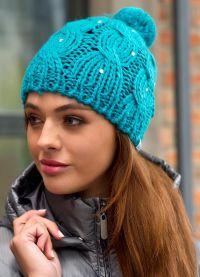 zimowe czapki z dzianiny dla kobiet2