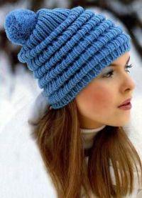 zimowe czapki z dzianiny dla kobiet8