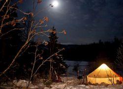 зимна туристическа шатра с печка