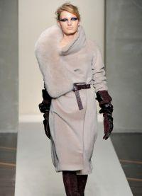 Zimní dámské kabáty s kožešinou 2