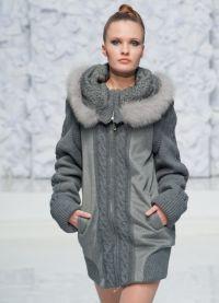 Zimní dámské kabáty s kožešinou 3