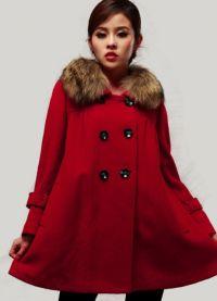 Dámské zimní kabáty s kožešinou 8
