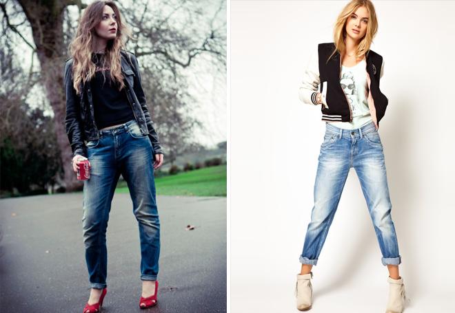 с чем носить потертые джинсы