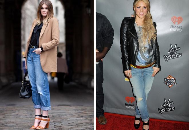 потертые джинсы в разных образах