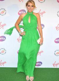 Шта носити са зеленом хаљином 6