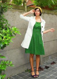 Шта носити са зеленом хаљином 7