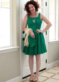 Шта носити са зеленом хаљином 8