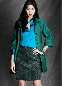 Какво да носите със зелено яке1