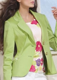С какво да носиш зелено яке2