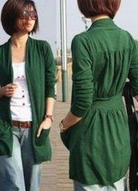 Какво да носите със зелено яке9