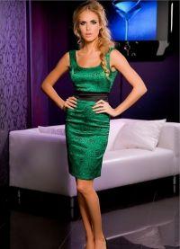 co se oblékat smaragdovými šaty 2