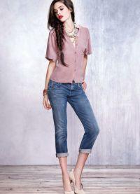 Какво да носите с капри джинси 2