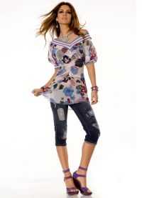 Какво да носите с капри джинси 6