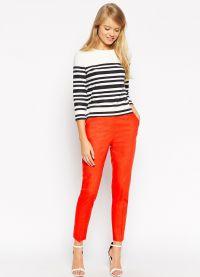 što nositi s crvenim hlače 2015 4