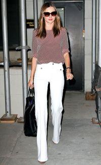 Z tym, co nosić białe spodnie 5