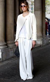 Co ubrać w białe spodnie 7