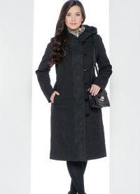 płaszcz damski z tkaniny przeciwdeszczowej na syntetycznym zimowisku1