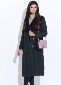płaszcz damski z tkaniny przeciwdeszczowej na syntetycznym zimowisku2