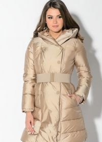 płaszcz damski z tkaniny przeciwdeszczowej na syntetycznym zimowisku4