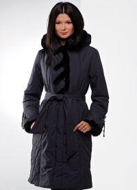 Płaszcz damski z tkaniny przeciwdeszczowej na syntetycznym zimowisku6