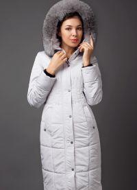 płaszcz damski z tkaniny przeciwdeszczowej na syntetycznym zimniku8