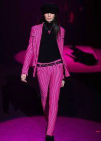 Dámský večerní kalhotový oblek 15