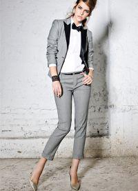 Dámský večerní kalhotový oblek 17
